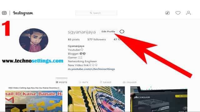 instagram temporarily disable step 1