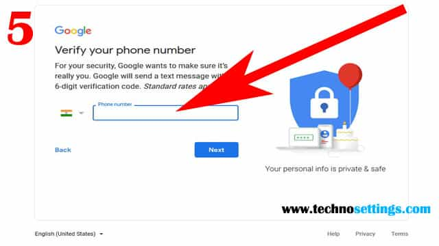 gmail mobile verify