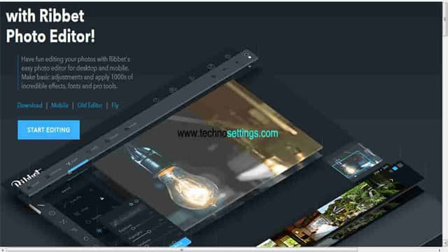 ribbet pic editor for online user