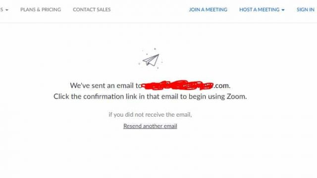 zoom email verification mail send