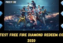 Latest Free Fire Diamond Redeem Code