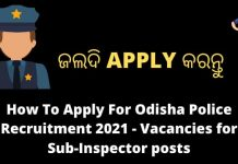 How To Apply For Odisha Police Recruitment 2021
